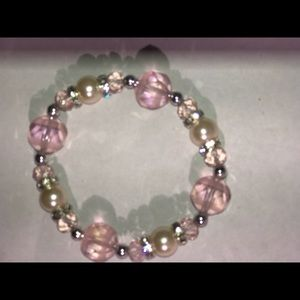 Jewelry - Pink and white bracelet